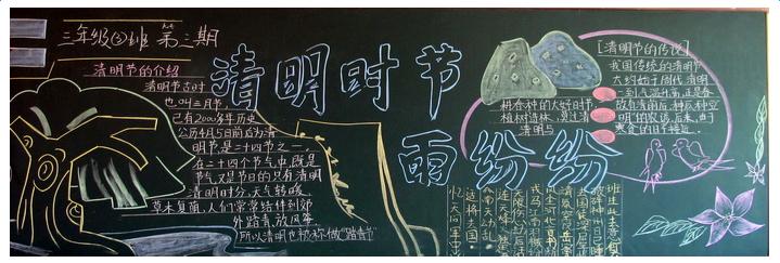关于清明节的黑板报主题图片