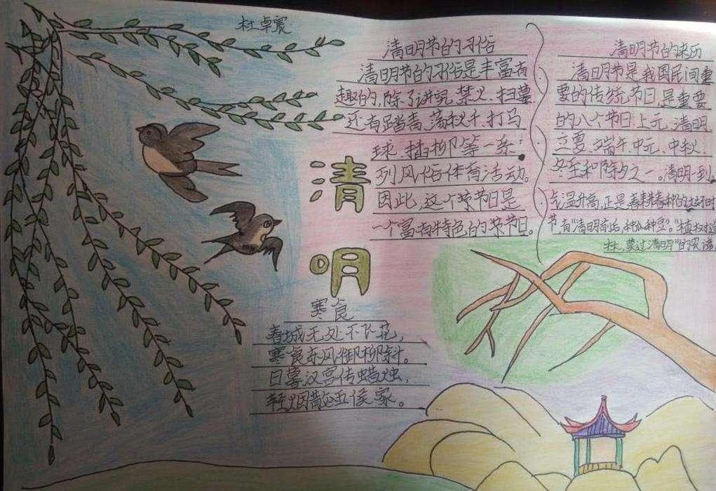 2017年成都清明节的手抄报