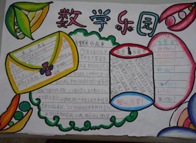 小学数学手抄报一年级