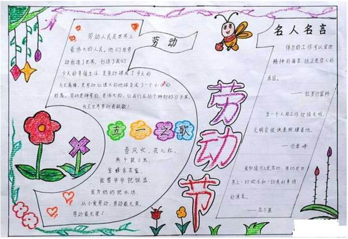 五年级五一节手抄报图片