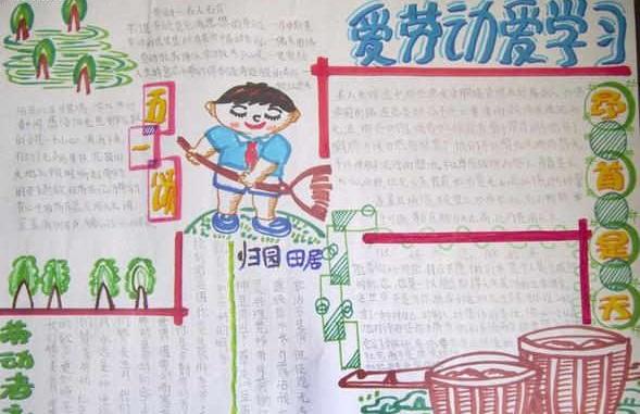 小学三年级劳动节手抄报图片