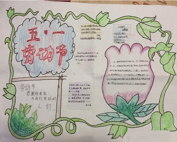 小学三年级劳动节手抄报图片图片