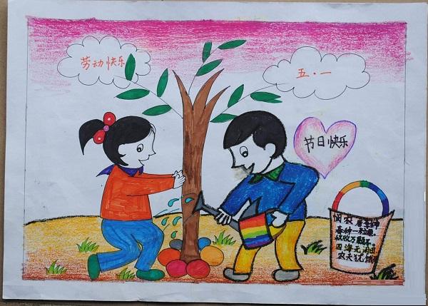 五一劳动节儿童画优秀作品展示