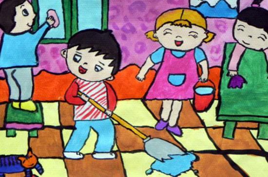 最美劳动者的画_五一劳动节儿童画优秀作品展示