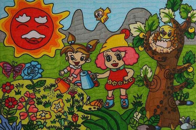 五一劳动节儿童画优秀作品展示图片
