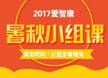 2017暑秋小组课