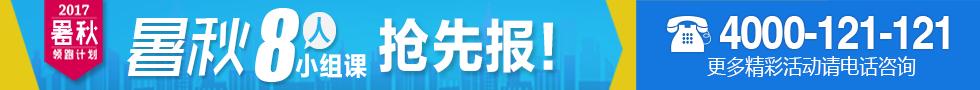 2017南京爱智康暑秋小组课提分课程