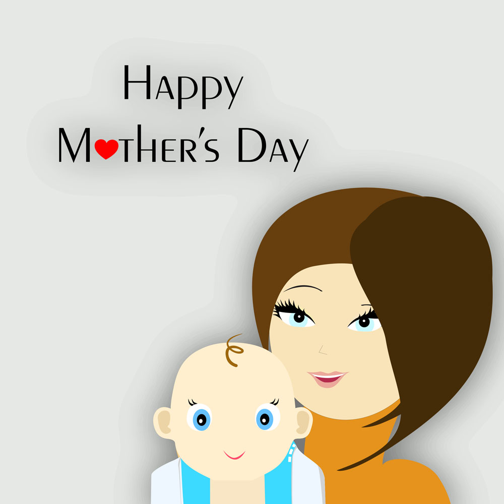 母亲节卡通图片图片