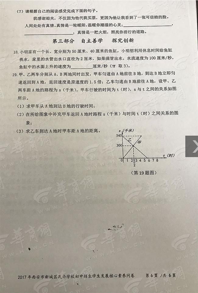 2017新城区小学生核心素养问卷-528考试真题(6)