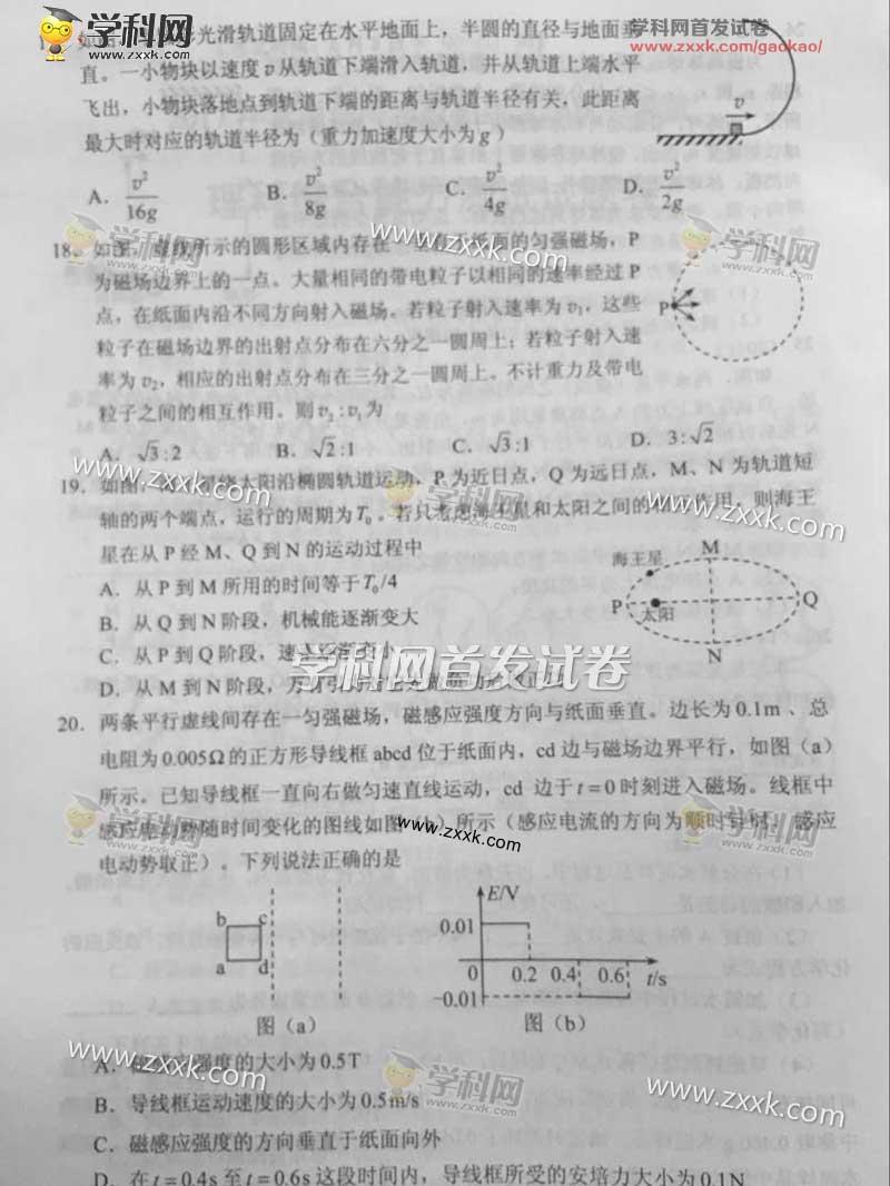 2017全国卷ii高考理综试题(2)图片