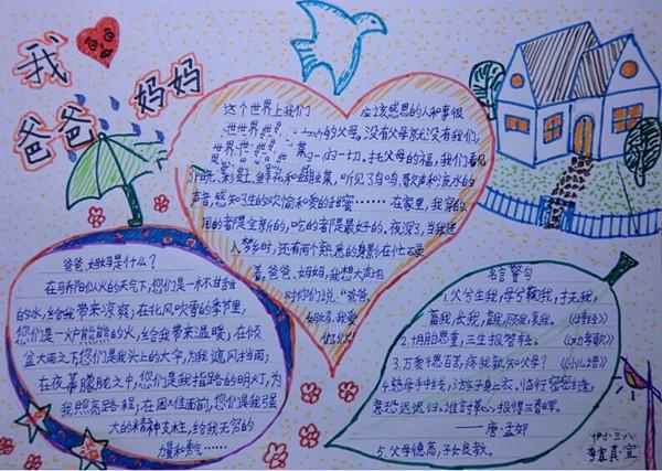 家整理的父亲节英语手抄报资料,更多有关父亲节、母亲节、教师节图片