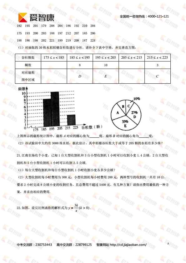 四川省绵阳市2017年中考真题数学试题