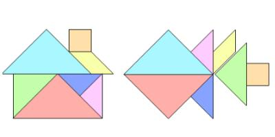 初一数学几何图形拼成的图案图片