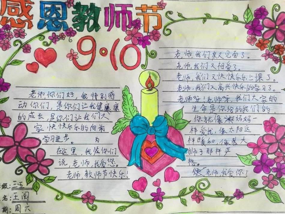 教师节手抄报集锦(2),也希望通过这些小朋友的画作来感谢老师