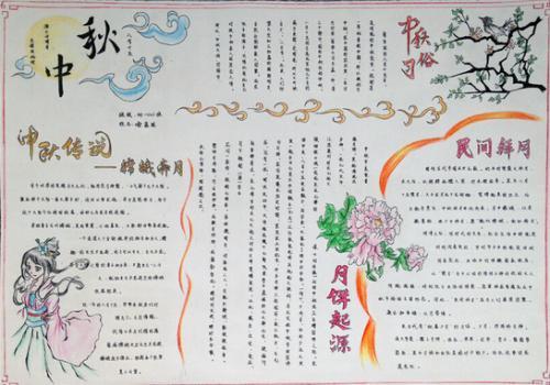 2017三年级中秋节手抄报内容图片