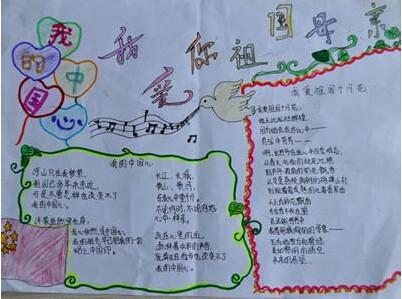 七年级关于国庆节的手抄报图片