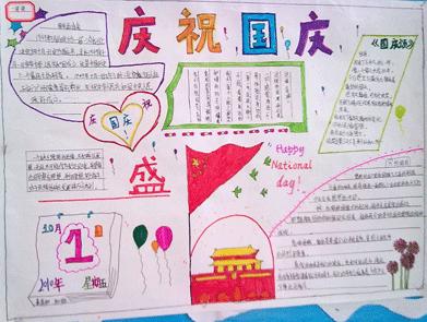 初三关于国庆节的手抄报
