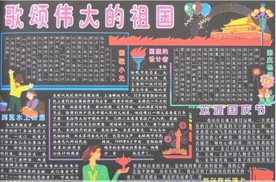 三年级关于国庆节的黑板报