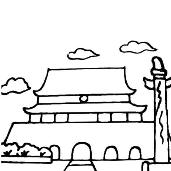 欢庆国庆简笔画