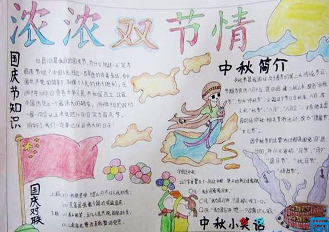 庆国庆迎中秋手抄报图片大全图片