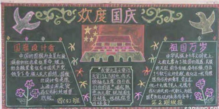 迎国庆板报_迎国庆黑板报图片 _排行榜大全