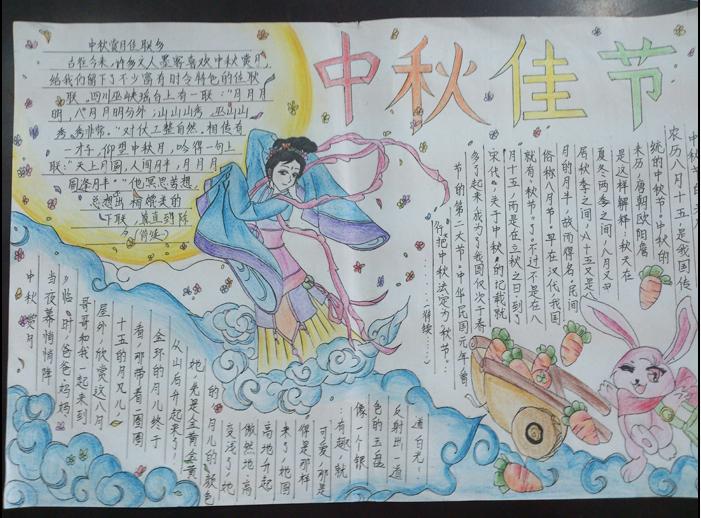 小学生中秋节小报_小学生中秋节手抄报_北京爱智康
