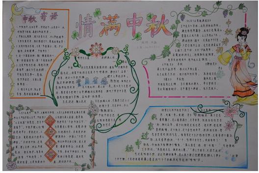 小学生中秋节手抄报