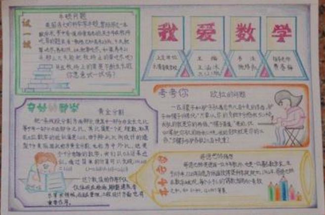 家教小报-小编推荐:   爱智康学习教育频道为分享的   六年级上册数学手抄报图