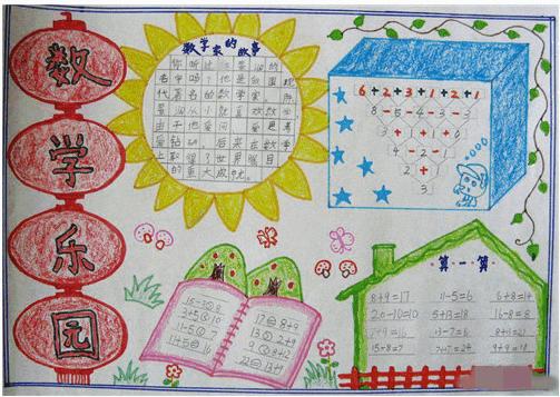 三年级数学手抄报图片