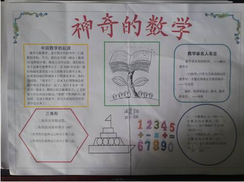 四年级数学手抄报图片图片