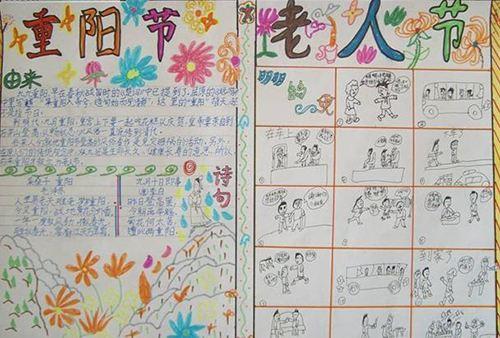 2017一年级重阳节手抄报图片