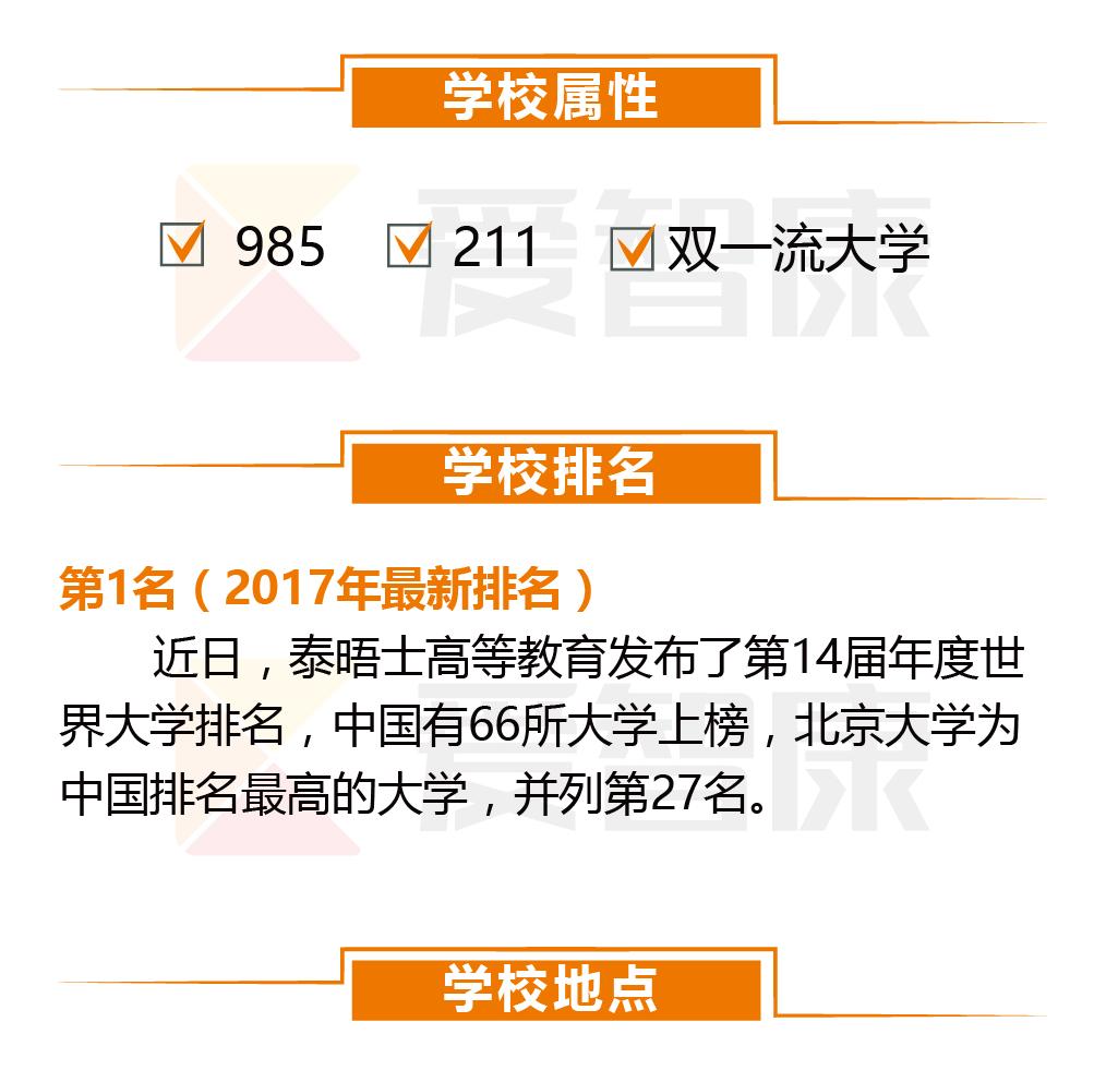 北京大学学校排名