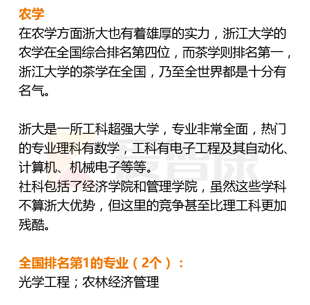 浙江大学优势学科