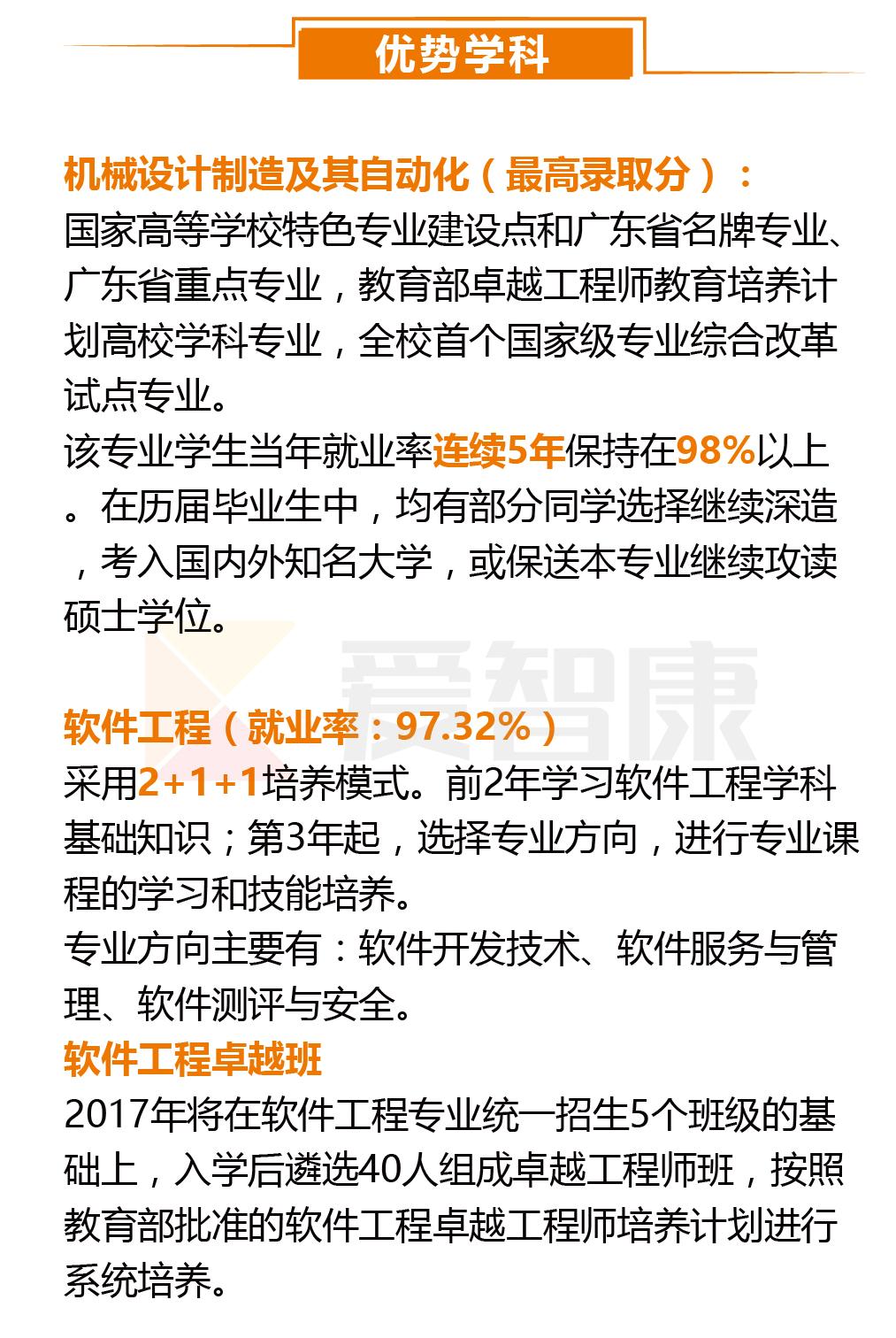 广东工业大学优势学科