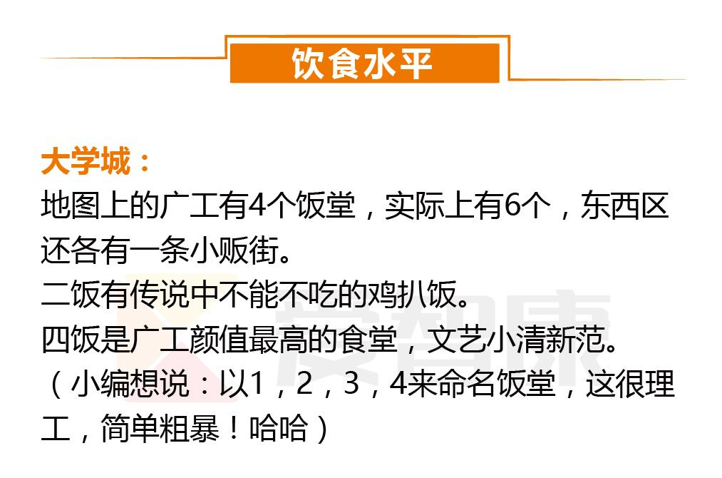 广东工业大学饮食水平