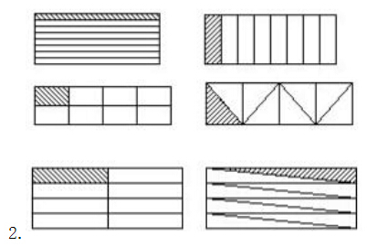 沿棱柱表面的不同棱剪开,可能得到不同组合方式的平面展开图. 圆柱图片