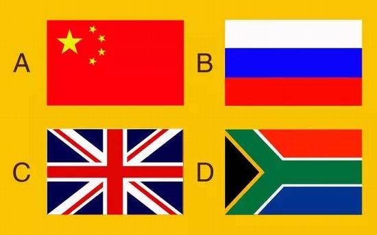 d,第十届         10,以下旗帜,哪一面不是金砖五国成员国的国旗