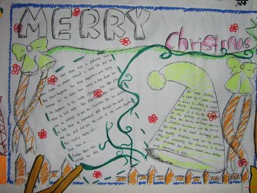 2017年初一英语圣诞节手抄报