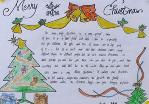 圣诞节英语手抄报图片简单又漂亮