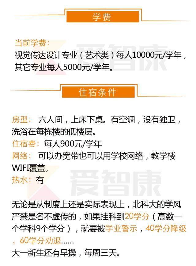 北京科技大学学费和住宿条件