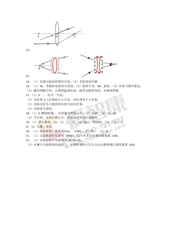 2016南京鼓楼区八年级上学期期末物理试卷,鼓楼区八年级期末物理试卷,八年级期末物理试卷