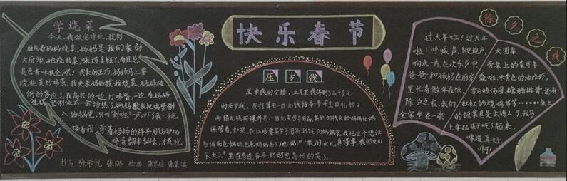 小学试题 小学作文 积分入学 中学排名 学位申请 寒假黑板报图片(三)图片