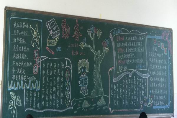 报_关于勤奋的黑板报