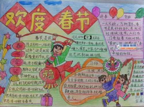 春节手抄报模板大全图片