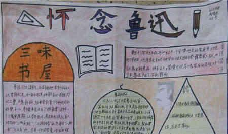 《故乡》等小说名篇一同收入小说集《                    的手抄报图片