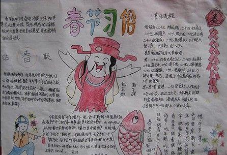春节习俗手抄报_深圳智康1对1