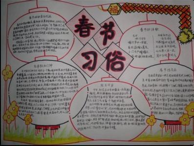 春节习俗手抄报