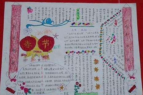 汇总丨2018春节九年级手抄报内容