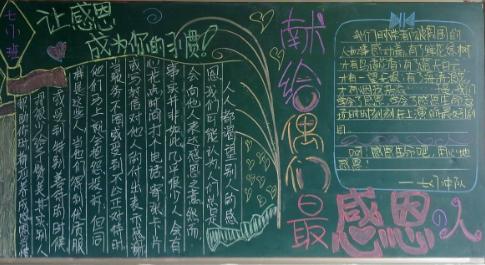 有关孝心的手抄报-关于孝顺的黑板报