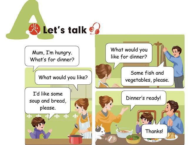 四年级上册英语 Unit 5 dinners ready